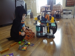 Batman and his Batcave
