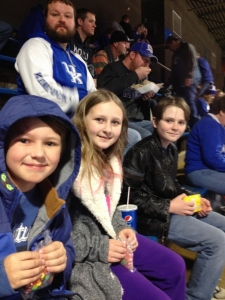 Crew at UK game