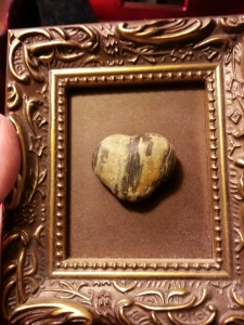 my favorite rock...a gift from my Sweetie
