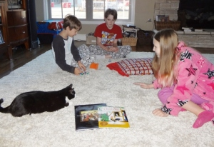 read aloud time with stalking kitty