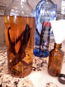 finished bottle of vanilla extract