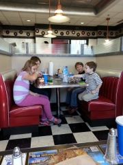 lunch at the Corvette Cafe