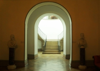 famous floating keyhole staircase