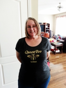in my Queen Bee t-shirt