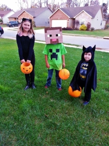 my little trick-or-treaters