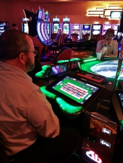 at the roulette wheel