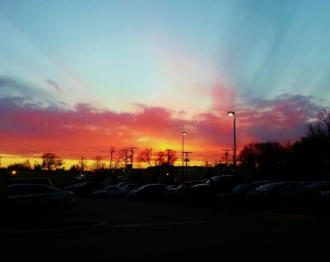 gorgeous sunset after a day of work