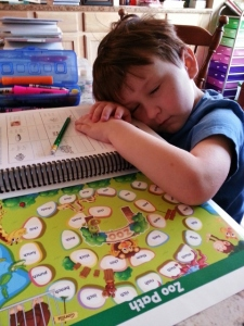 learning to read is exhausting