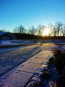 snow and sunshine