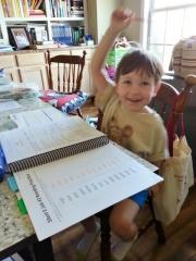Littlest loves school