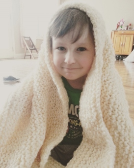 Littlest with blanket I finally finished