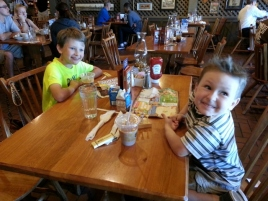 lunch and ice cream out with the two youngest