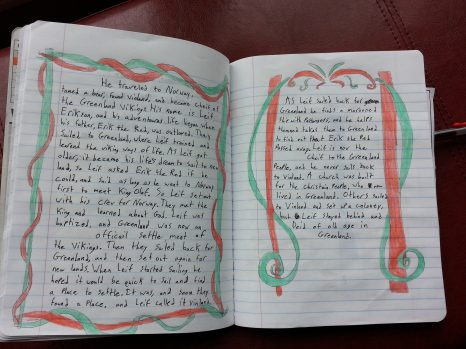 pages from Sparkles notbook