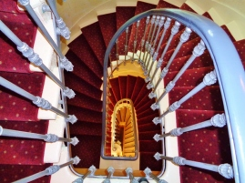hotel staircase in France