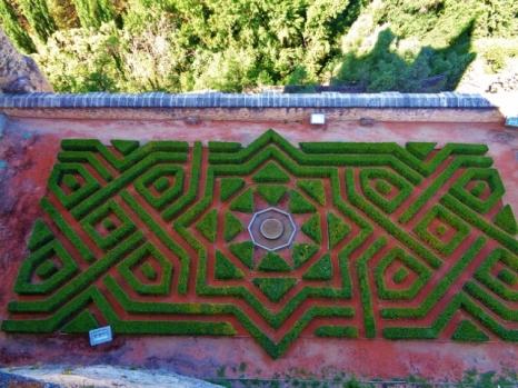 Alcazar Castle garden, Spain