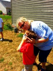 Miss Patty and Littlest during the sclipse