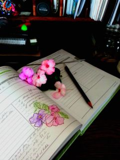 sometimes I paint flowers in my planner