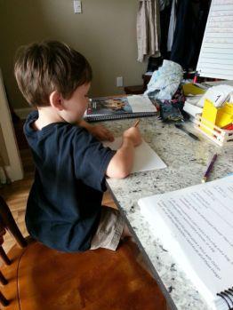 writing his short story