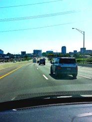 Zipping through Nashville.