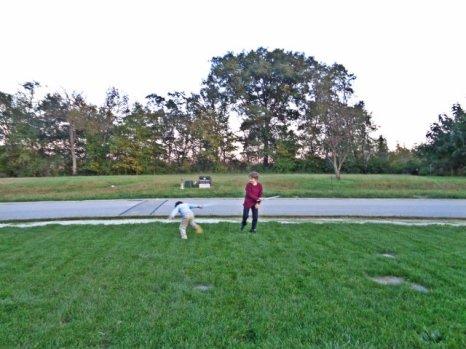 playing in yard