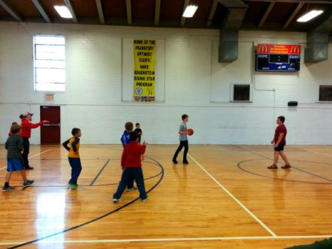 basketball with the adventure group