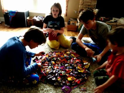 candy dump and sort