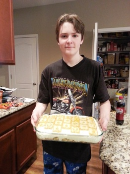 Oldest learned to make banana pudding