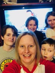 Aunt Cindy and crew ready to watch Wonder Woman