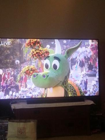 watching the Rose Bowl Parade