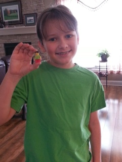 Middle boy created a Lego Mini-me