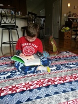 he loves to read