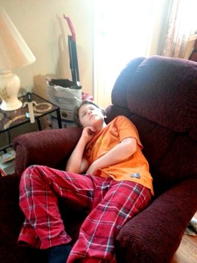 sleeping through read aloud