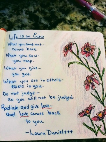 poem I copied into my art ignored journal
