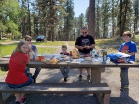 lunching at Centennial Trail in the Black Hills