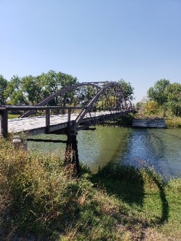 military built bridge over North Platte