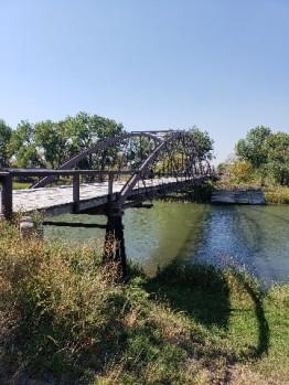 military built bridge over North Platte