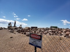 construction at the top of Pike's Peak