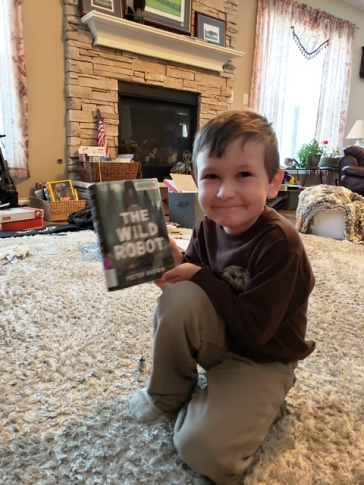 finished his first big book this week